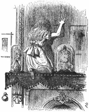Ilustración de J. Tenniel para A través del espejo y lo que Alicia encontró allí, de L. Carroll